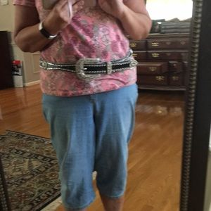 Accessories - XL Western Leather Bling Belt